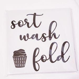 """Wall Deco - """" sort wash fold"""""""